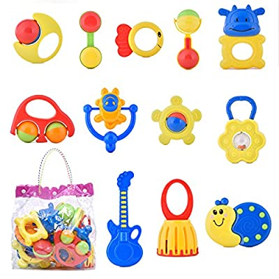 Niuniu Daddy 12 Pieces Baby Rattle and Teether Toy Play Set - Colors May Vary by Hangzhou Tianqu Trade Co.,Ltd that we recomend personally.