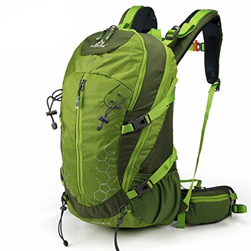 Tofine Backpack Lightweight Daypack Waterproof for Internal Frame Backpacks Green 30L