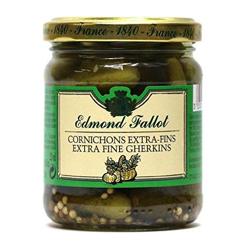 Edmond Fallot Cornichons Extra-Fins (Extra Fine Gherkin Cucumbers), 6.7 ounce ()