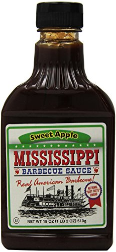 Mississippi BBQ BBQ Sauce, Sweet Apple, 18-Ounce (Pack of 6)