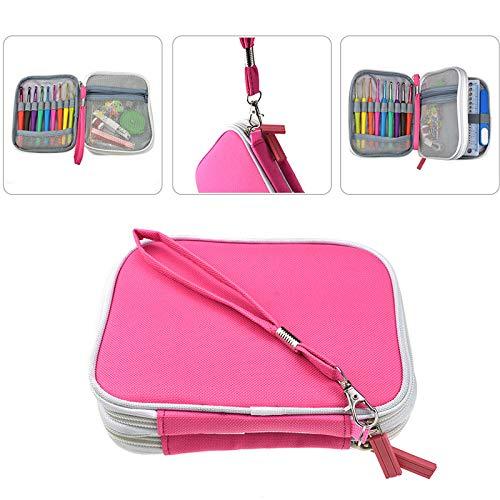 Gift for world New 17pcs 0.6-6.0mm Crochet Hooks Sets Yarn Knitting Hooks Needles Set Gauge Scissors Stitch Holder Sewing Accessories With Bag