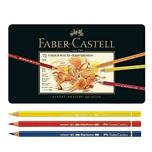 Faber Castell Polychromos Color Pencils Finest Artists Quality,Metal tin Set of 72 by A.W. FABER-CASTELL