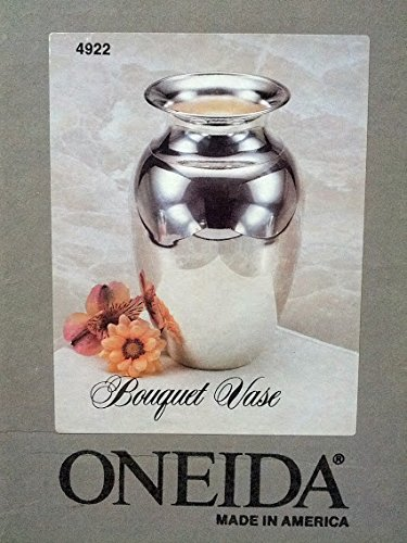 Silverplate Vase (Oneida Silversmiths Bouquet Vase 8 inches Silverplate made in America 1994)