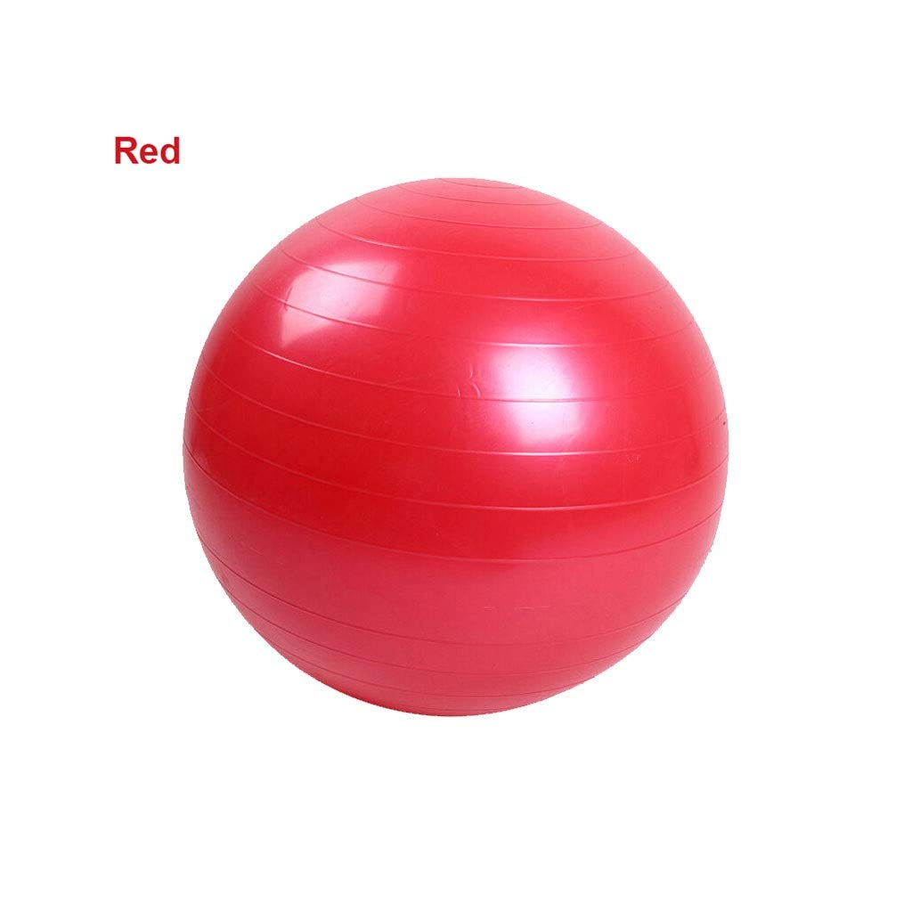 Thickened Explosion-Proof Yoga Ball PVC Smooth Matte Fitness Ball Pregnant Women Moving Ball Shaping Ball (Color : Red, Size : 65cm)