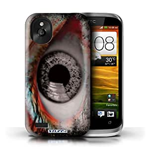 STUFF4 Phone Case / Cover for HTC Desire X / Grey Design / Eye/Iris Collection