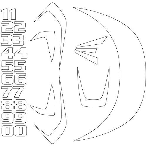Easton Z5 Series Decal Kit, (Baseball Helmet Decals)