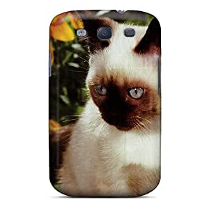 New Arrival ETNjR2355tbtwn Premium Galaxy S3 Case(a Kitten With Black Eyed Susan Flowers)