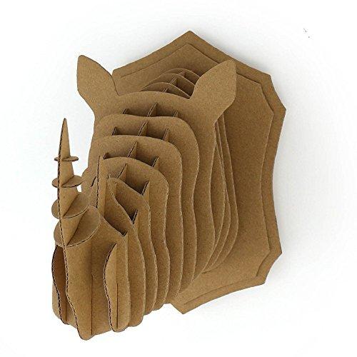 I'm Charmer Cardboard Craft Cutout Rhino Taxidermy Faux 3D Model (Cardboard Cutout Head)