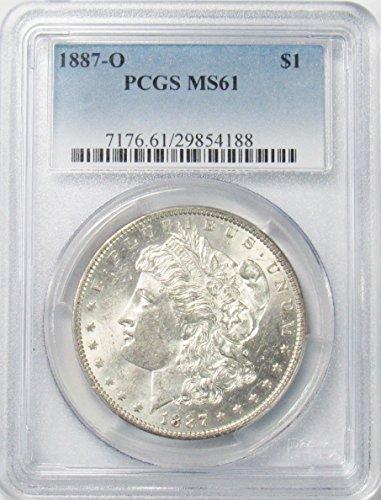 1887 O Morgan Silver Dollar $1 MS61 PCGS ()