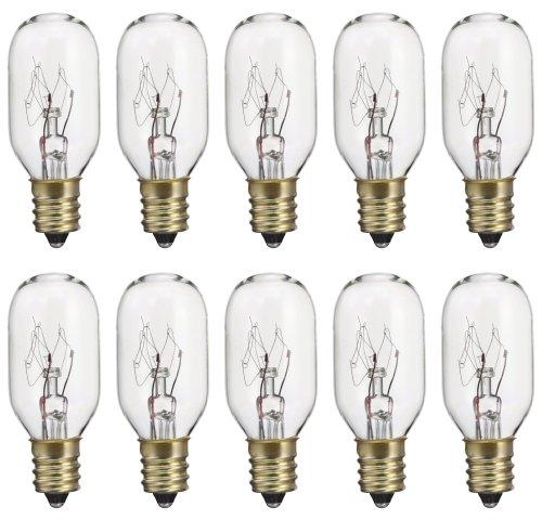 Memotronics 15 Watt 130 Volt T7 Candelabra E12 bulb 15T7C 15T7 130V 15W Exit Signs (Box of (Exit Bulb)