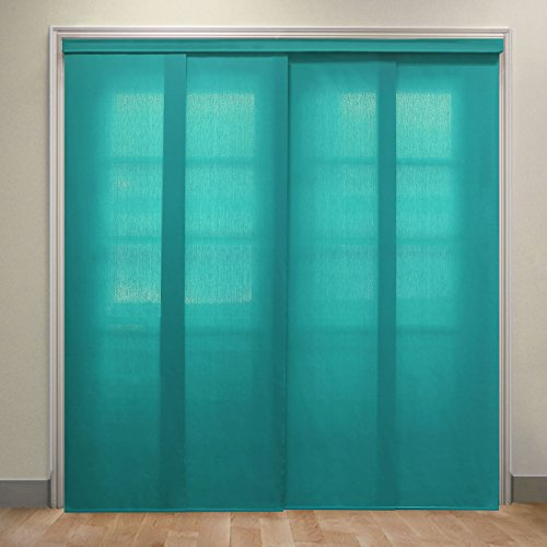 Chicology Deluxe Adjustable Sliding Panels, Cut to Length Vertical Blinds, Allure Ultramarine (Light Filtering) - Up to 80