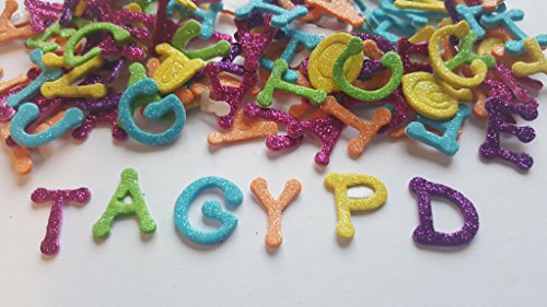 Bright Glitter Alphabet Foam Stickers Foam Letters For Crafts