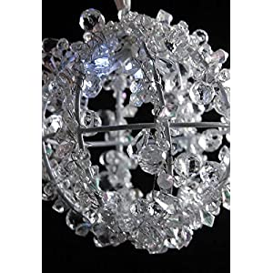 Dexon Power Crystal Ball with LED Lights Battery Operated 5in 91