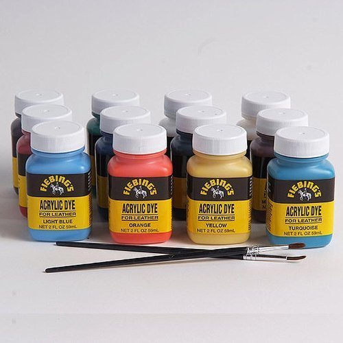 - Fiebing's Acrylic Leather Dye Pack - 2 Ounces, Set of 12