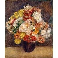 Ramalhete de Crisântemos - Pierre-Auguste Renoir - Tela 50x60 Para Quadro