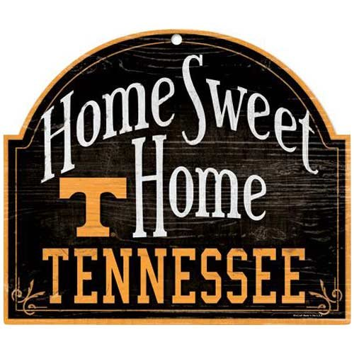 (Wincraft NCAA University of Tennessee Wood Arched Sign, 10 x 11, Black)