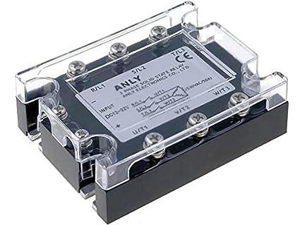 Asr 3ph40da H Relay Solid State Ucntrl12 32vdc 40a 48 480vac 3 Phase