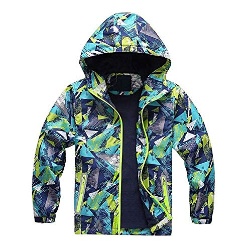 Jshuang❤️(2Y~7Y) Children Kids Winter Outdoor Camouflage Waterproof Windproof Warm Jackets Ski Suit with Hoodie Keep Warm Coat ()