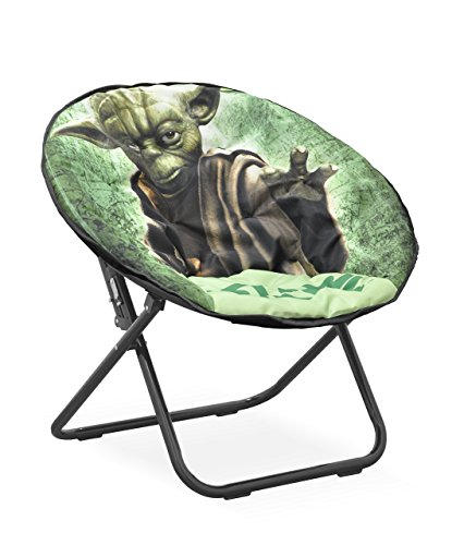 Disney Star Wars Yoda Tween Saucer Chair, Green by Disney