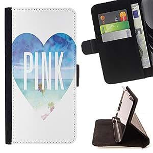Super Marley Shop - Funda de piel cubierta de la carpeta Foilo con cierre magn¨¦tico FOR HTC Desire 820 D820 d820t- Love Pink Heart