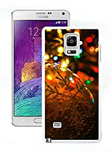 Personalize offerings Christmas lights White Samsung Galaxy Note 4 Case 2