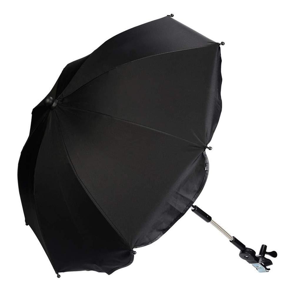 BAMBINIWELT universal Sonnenschirm Sonnenschutz f/ür Kinderwagen /& Buggy /Ø68cm UV-Schutz50 Schirm Sonnensegel Sonnenschutz SCHWARZ RUND XX