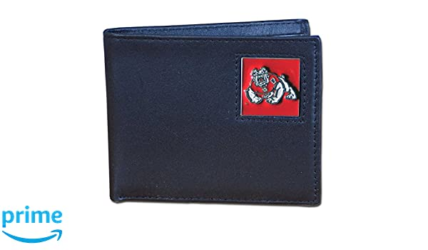 Siskiyou NCAA Fresno State Bulldogs Deluxe Leather Tri-Fold Wallet Packed in Gift Box