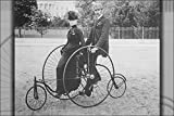 model 1886 - 24x36 Poster; Smartly Dressed Couple Seated On An 1886-Model Bicycle For Two