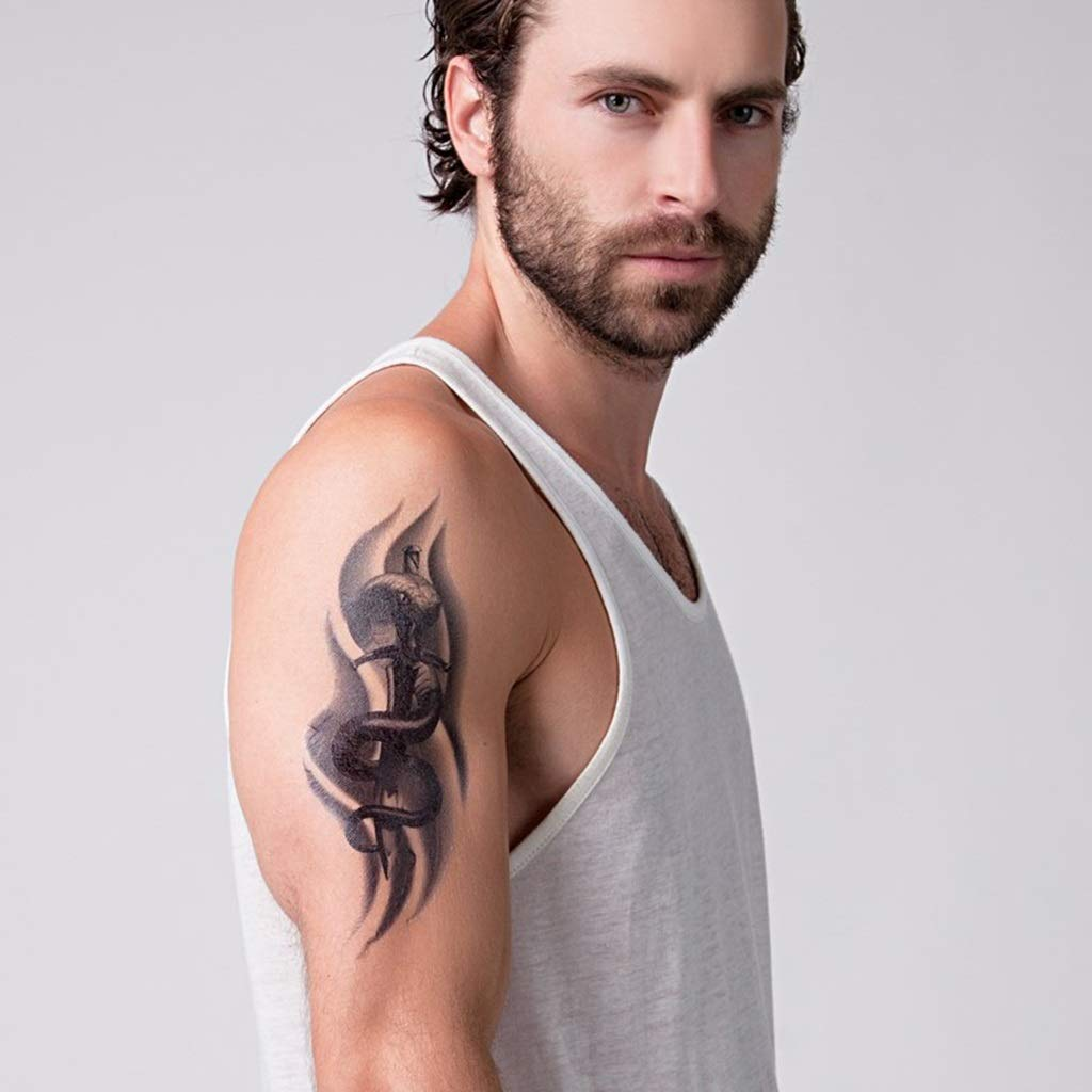 YSYYSH Etiqueta engomada impermeable del tatuaje del brazo de la ...