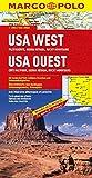 MARCO POLO Kontinentalkarte USA West, Pazifikküste, Sierra Nevada, Rocky Mountains 1:2 Mio. (MARCO POLO Kontinental /Länderkarten)