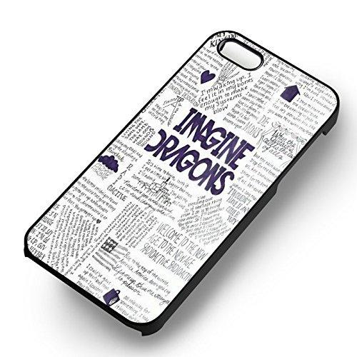 Imangine Dragon Quote Art pour Coque Iphone 6 et Coque Iphone 6s Case (Noir Boîtier en plastique dur) M2E3GF
