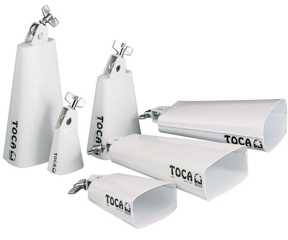 Toca 4425-T Contemporary Series Cowbell, Low Cha Cha - White Powder Coat