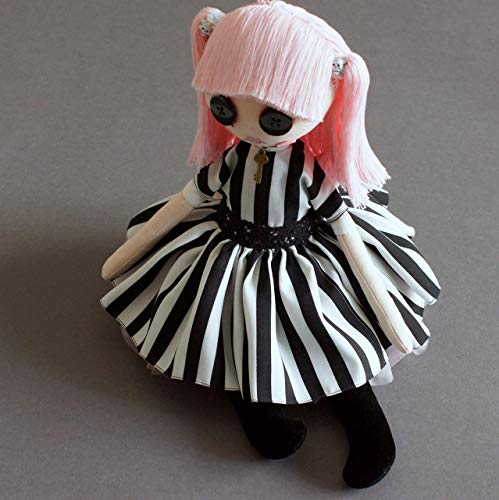 Ooak gothic art doll - Tim burton Inspired Style - Birthday, Mothers day -