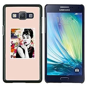 Eason Shop / Premium SLIM PC / Aliminium Casa Carcasa Funda Case Bandera Cover - Cartel de la estrella de la película Actriz de Hollywood - For Samsung Galaxy A5 ( A5000 ) 2014 Version