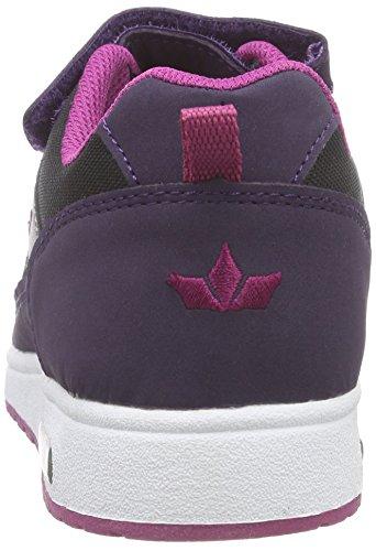 Lico Cool VS - Zapatillas deportivas para interior de material sintético para niños Negro (schwarz/lila/pink)