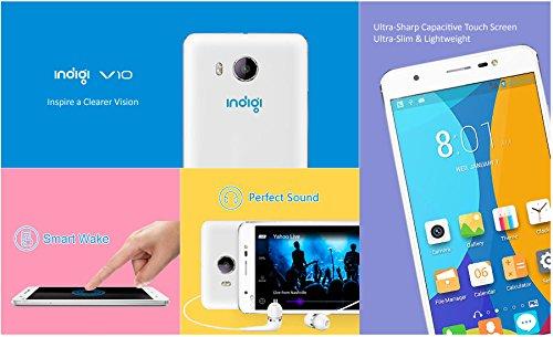 Indigi® Unlocked Android 4.4 KK 3G SmartPhone w/ Google Play Store Dual Sim Card Slots (Standard + Micro Sim) Smart Wake Feature Dual Cameras