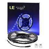LE 16.4ft/5m Flexible LED Light Strips, 300 Units SMD 3528 LEDs, 12V DC LED Strip Lights, Blue, Non-waterproof, Lighting Strips, LED Tape for Gardens/Homes/Kitchen/Cars/Bar/DIY Party
