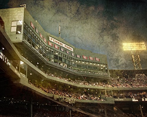Amazon.com: Vintage Fenway Park Print - Boston Baseball - Red Sox ...