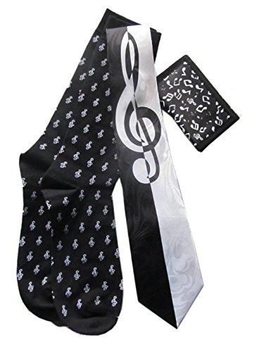 Mens Music Gift Sets: Neck Ties, Lapel Pin/Tie Tacks, Socks, Wallets, Suspenders (Tie Wallet)