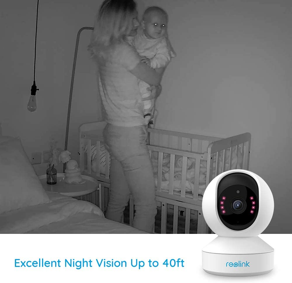 Indoor Security Camera, Reolink E1 Pro 4MP HD Plug-in WiFi Camera for Home Security, Dual-Band WiFi, Multiple Storage Options, Motion Alert, Night Vision, Ideal for Baby Monitor/Pet Camera