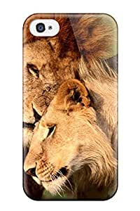 Brand New 4/4s Defender Case For Iphone (lions Caressing Wild S Big Affection Caress Felines Animal Cat) wangjiang maoyi