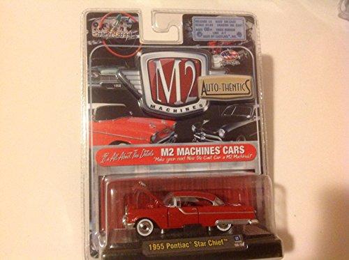 64 Pontiac Star - M2 Machines 1:64 Auto-Thentics 1955 Pontiac Star Chief Red #09-06