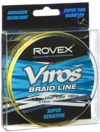 Rovex Viros Braid Line Chartreuse 13.6kg 30lb 300 yd