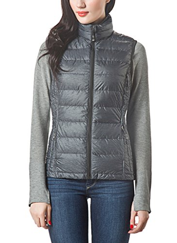 XPOSURZONE Women Packable Lightweight Down Vest Outdoor Puffer - Jacket Running Ultralight