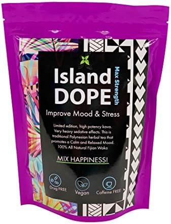 Island Dope Fijian Kava Powder 22-25 kavalactone 8oz