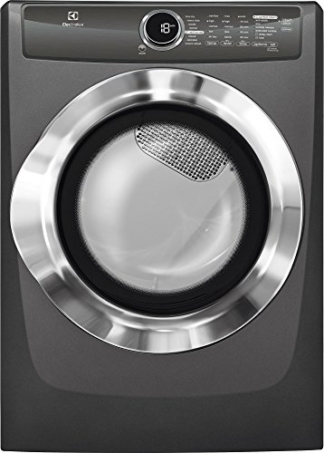 Electrolux EFMG617STT 27″ Energy Star Front Load Gas Dryer with 8 cu. ft. Capacity Perfect Steam Allergen Cycle 15 Minute Fast Dry and Reversible Door: