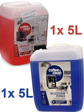Limpiador de espuma de leche de 5 litros + descalcificador líquido ...