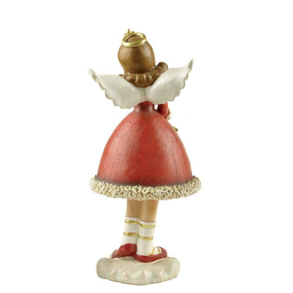 JIAHUADE Beautiful Desktop Ornaments White Wings Angels Sitting Flowers Fairy Fairy Girl Doll Crafts Cute Elves