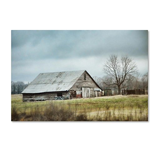 An Old Gray Barn by Jai Johnson, 22x32-Inch Canvas Wall Art
