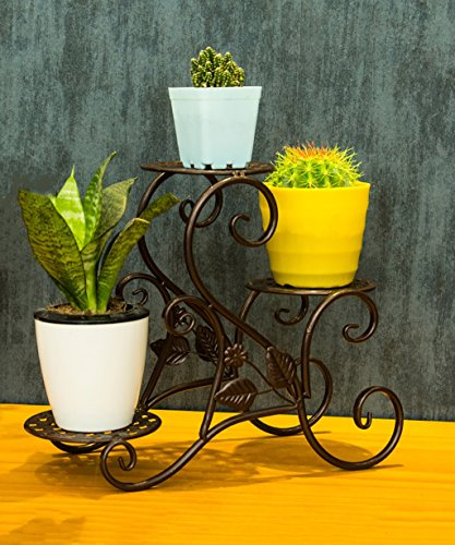 CHAOXIAN Plant Flower Stand Pots Holder Iron Multilayer Fashion Potted Shelf Living Room Balcony Flower Pot Countertop Plant/Flower Shelf (Color : C, Size : 371430cm)